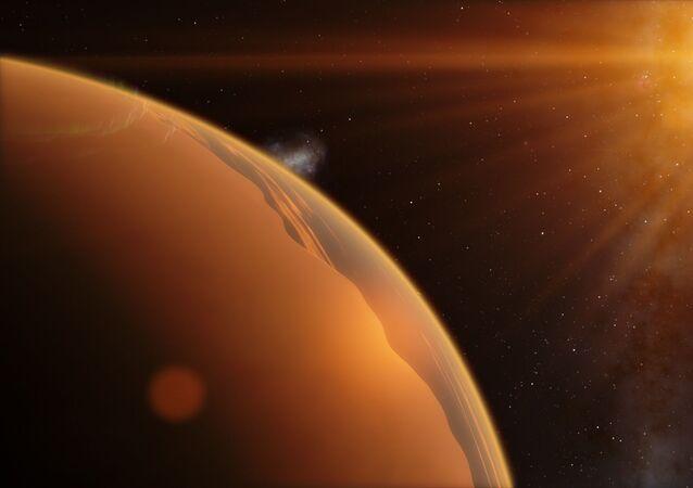 Concepção artística de exoplaneta