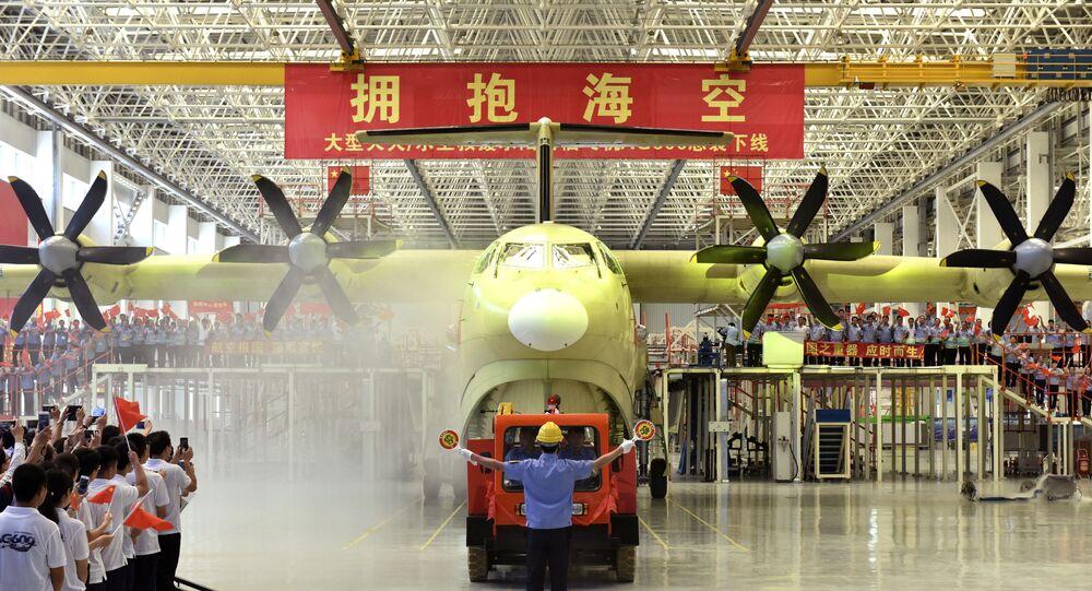 Aeronave anfíbia chinesa AG600