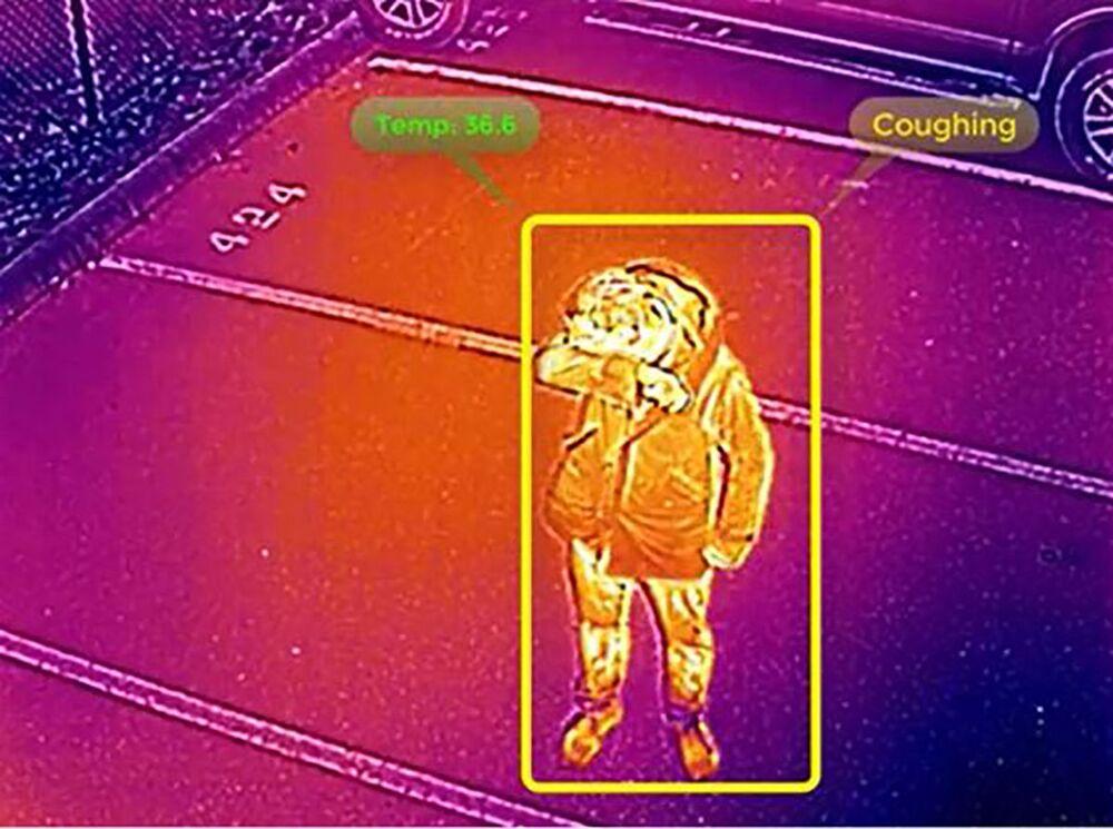 Leitura térmica de drone desenvolvido pela Universidade da Austrália do Sul