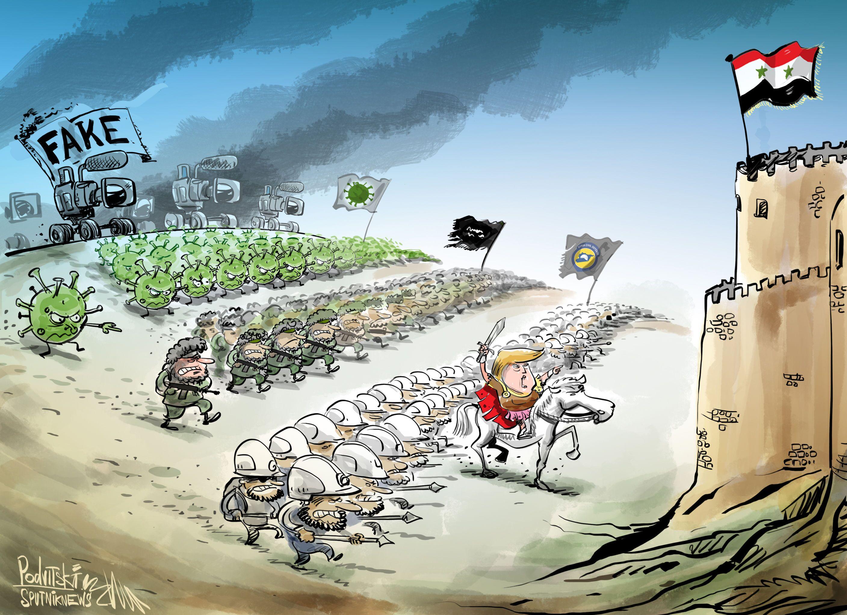 Se aproveitando do coronavírus na guerra síria