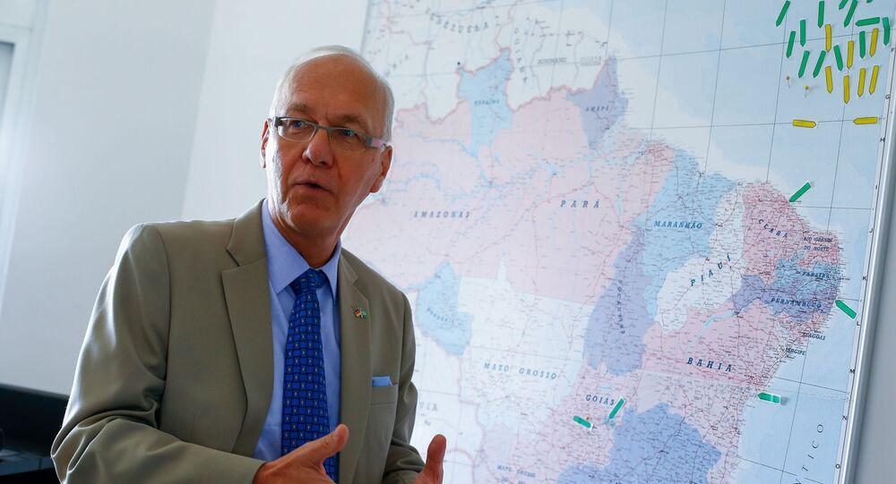 Embaixador da Alemanha no Brasil, Georg Witschel, na sede da Embaixada em Brasília