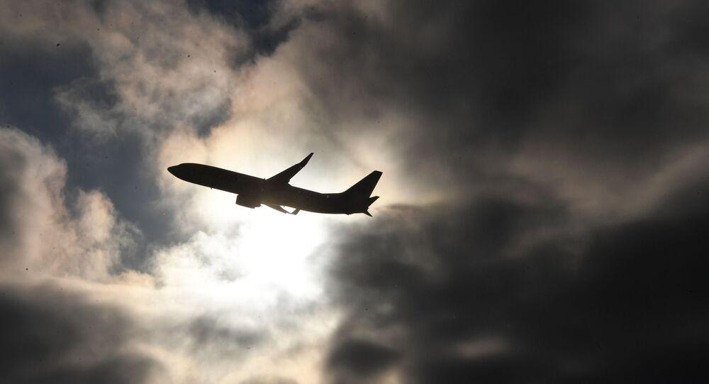Sombra de avião não identificado (imagem referencial)