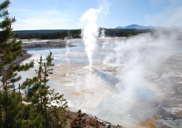 Parque Nacional de Yellowstone, localizado nos estados norte-americanos de de Wyoming, Montana e Idaho (imagem de arquivo)