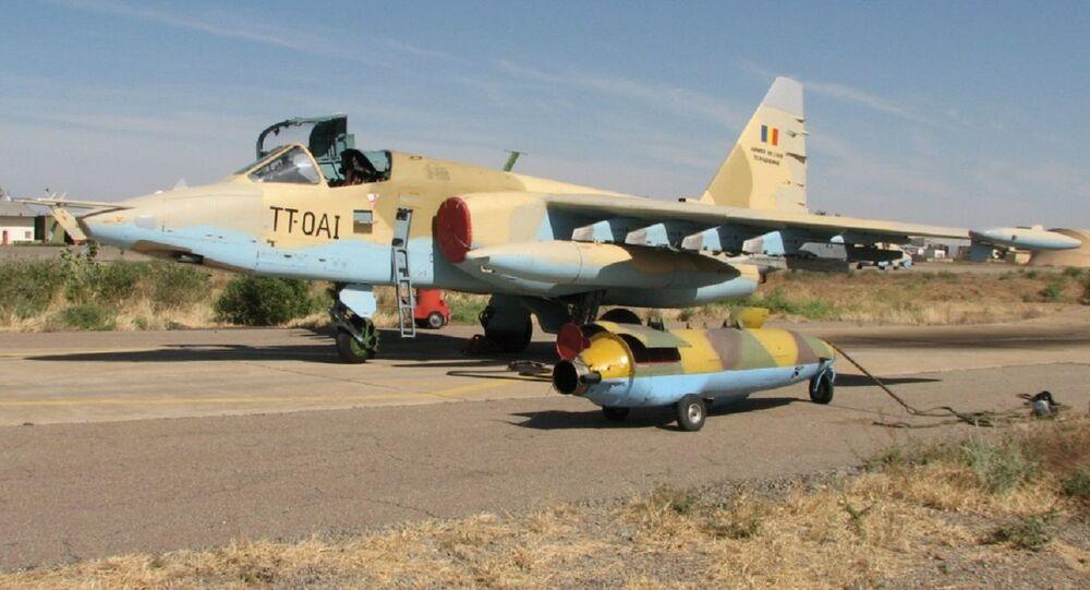 Caça Su-25 da Força Aérea da República de Chade