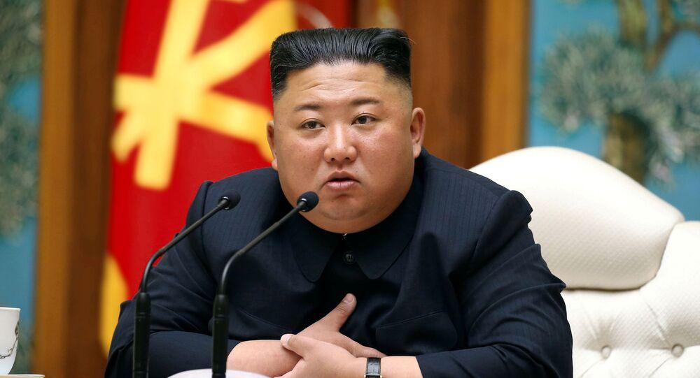 Líder da Coreia do Norte, Kim Jong-un, participa de reunião no Departamento Político do Comitê Central do Partido dos Trabalhadores norte-coreano