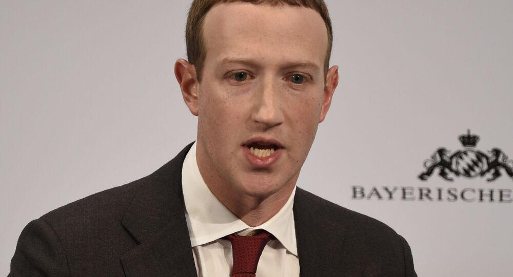 CEO do Facebook, Mark Zuckerberg, fala no segundo dia da Conferência de Segurança de Munique, Alemanha, 15 de fevereiro de 2020
