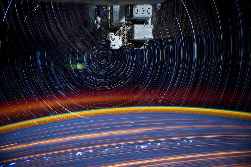 Vista da Terra a partir da Estação Espacial Internacional