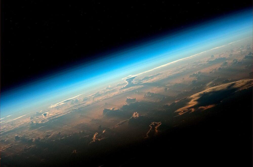 Vista do planeta Terra a bordo da Estação Espacial Internacional