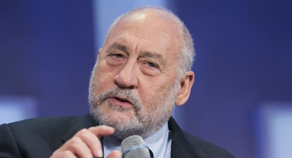 Economista e professor da Universidade de Columbia, Joseph Stiglitz, fala em Nova York