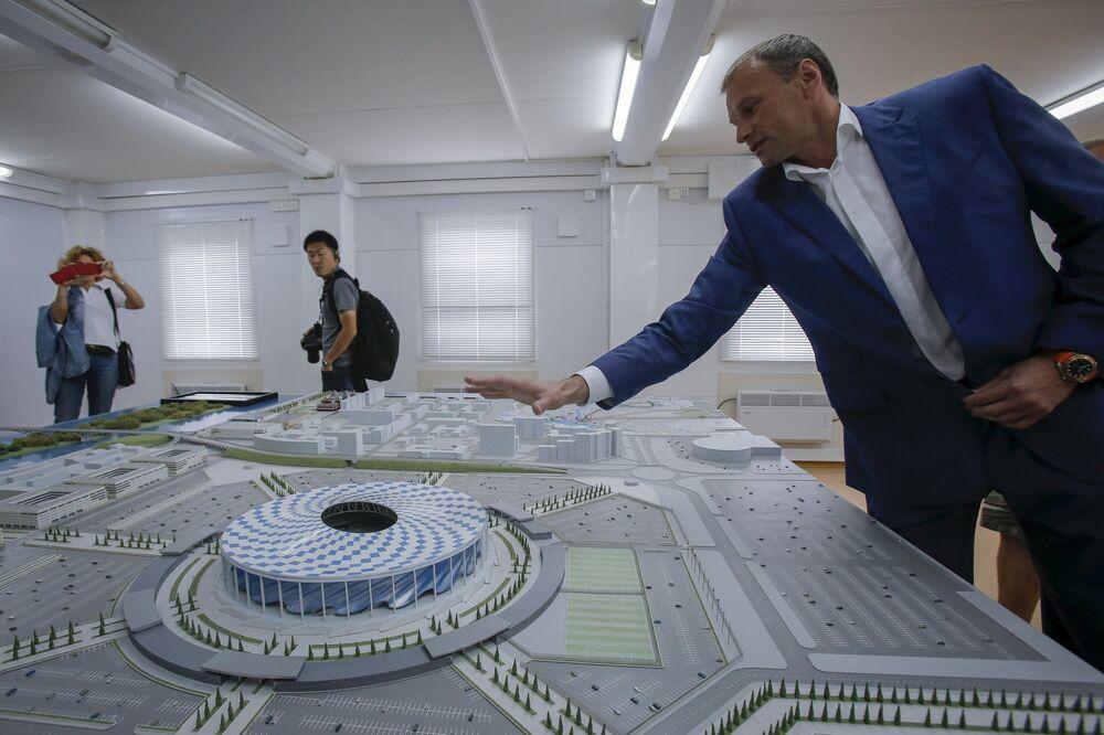 Maquete do novo estádio de futebol de Nizhny Novgorod