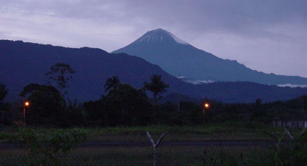 Vulcão Sangay, no Equador