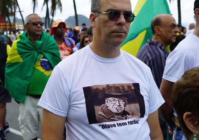 Ato em defesa da Lava Jato em Copacabana, Rio de Janeiro, em 25 de agosto de 2019.