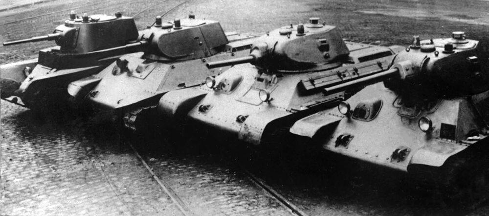 Progressão evolutiva do tanque BT-7 até ao T-34
