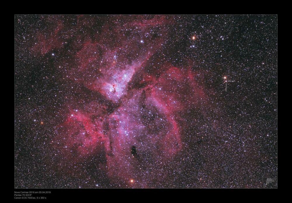 V906 Carinae, descoberta em 2018 na nossa Via Láctea