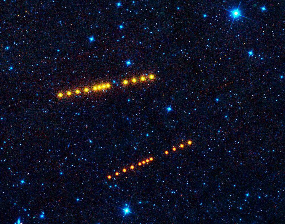 Asteroides Klotho e Lina entre Marte e Júpiter