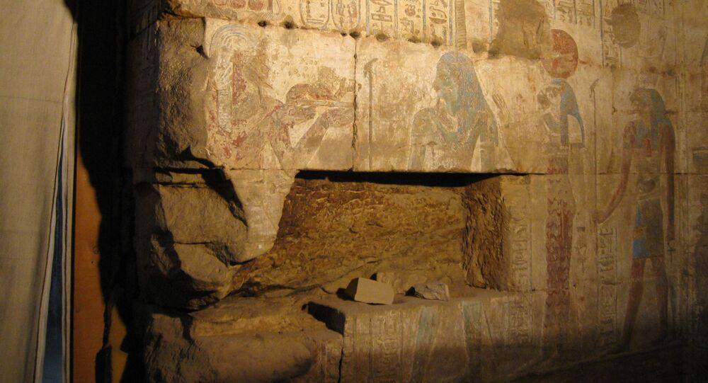 Parte do templo de Osíris (arquivo)