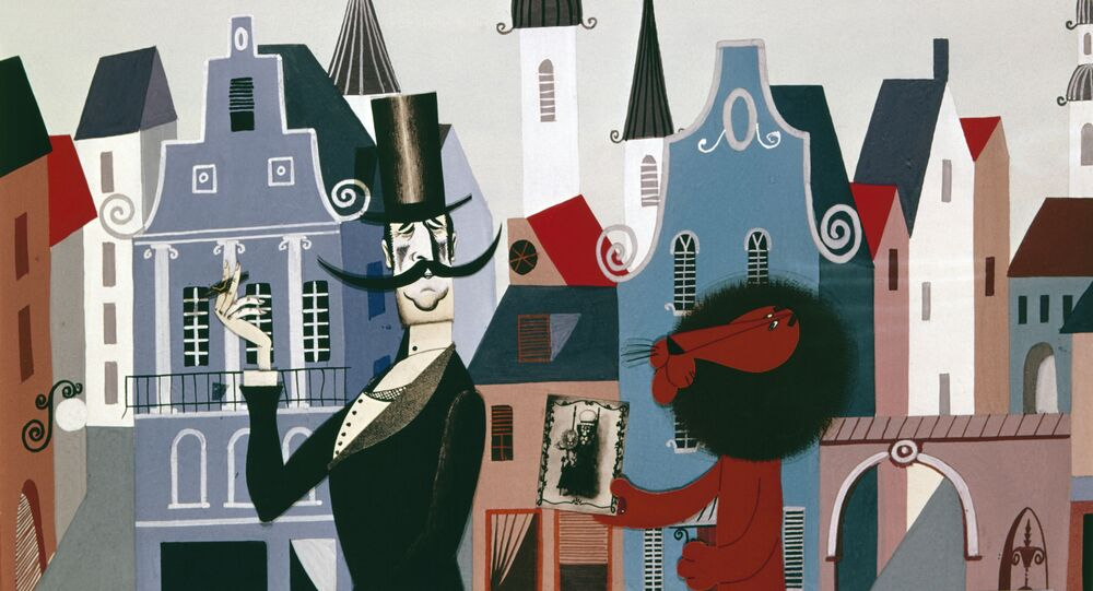 Cena da animação do diretor soviétivo Fyodor Khitruk As férias de Bonifácio