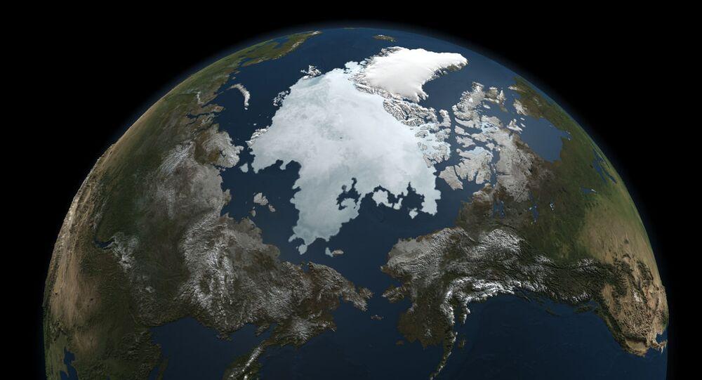 Gelo no oceano Ártico