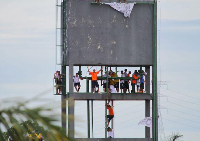 Rebelião na Unidade Prisional do Puraquequara (UPP), na manhã deste sábado (2), em Manaus