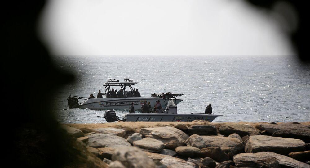 Barcos das forças de segurança venezuelanas, depois que o governo da Venezuela anunciou uma incursão mercenária fracassada, em Macuto, Venezuela, 3 de maio de 2020