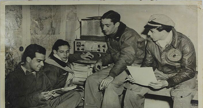 Homens da Força Aérea Brasileira na Segunda Guerra Mundial.