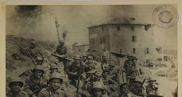 Força Expedicionária Brasileira (FEB) durante a Batalha de Monte Castello.