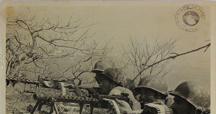 Homens da Força Expedicionária Brasileira (FEB).
