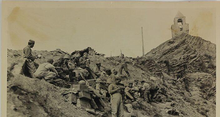 Força Expedicionária Brasileira (FEB) durante a Batalha de Monte Castello, na Segunda Guerra Mundial.