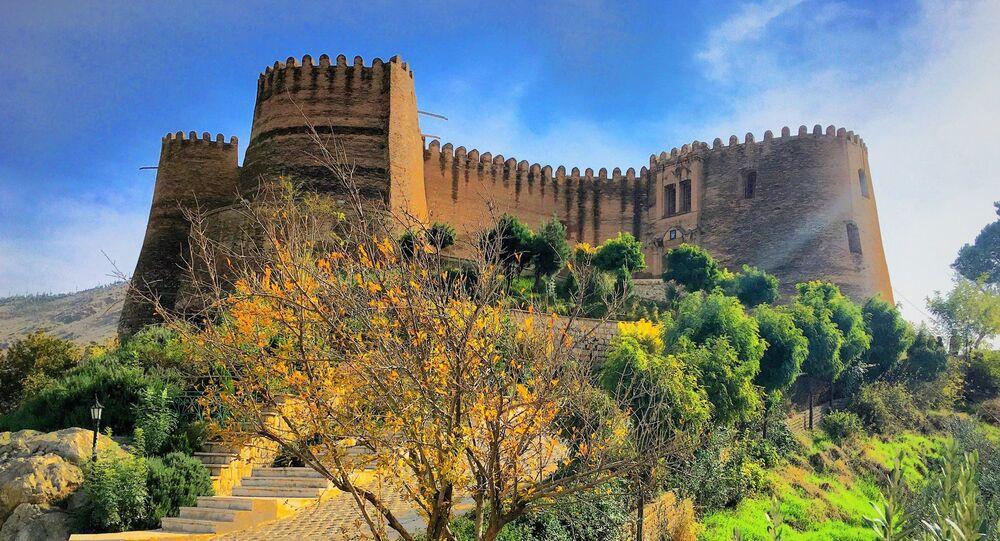 Castelo de Falak-ol-Aflak, na cidade iraniana de  Khorramabad, província do Lorestão