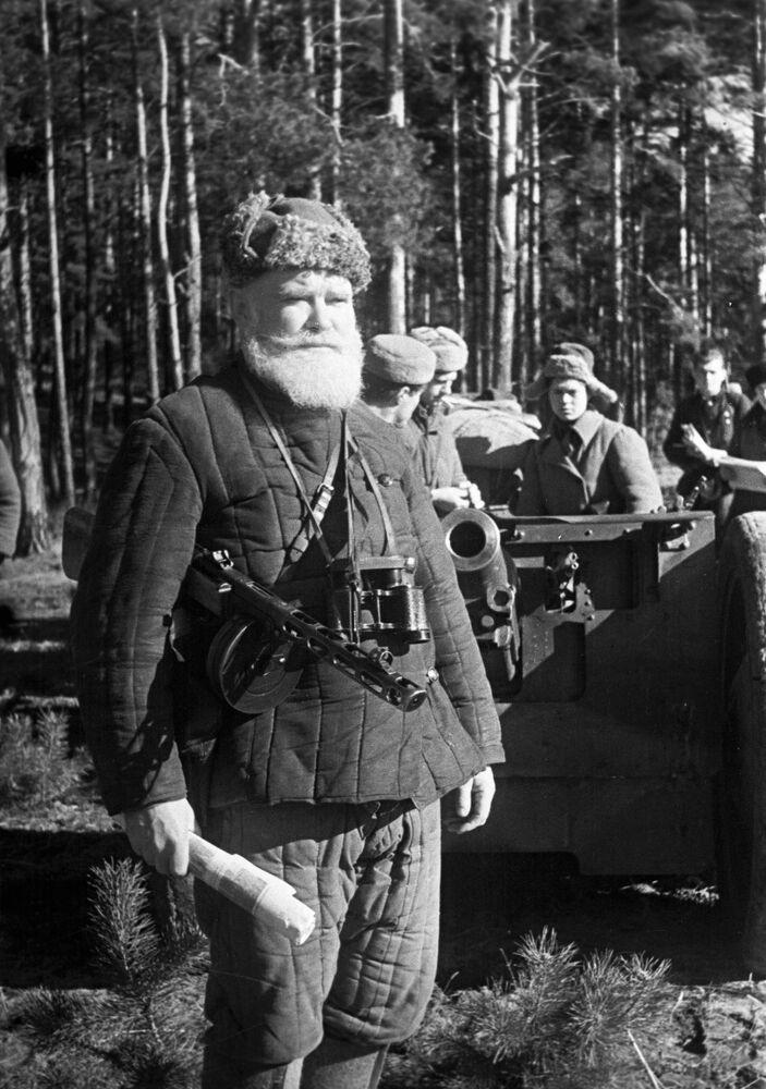 Um partisan bielorrusso em 1943
