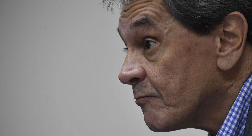 O ex-deputado federal Roberto Jefferson, durante entrevista exclusiva à Folha de S.Paulo, na sede nacional do Partido Trabalhista Brasileiro, em Brasília (DF), em 2018.