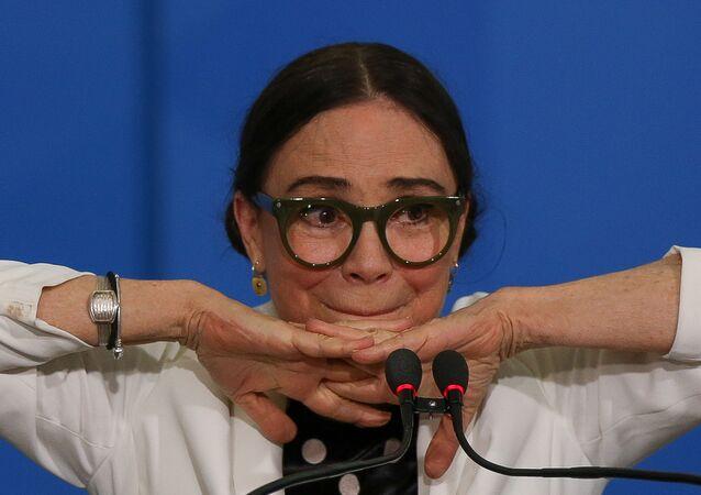 Atriz Regina Duarte, secretária de Culltura do governo Bolsonaro