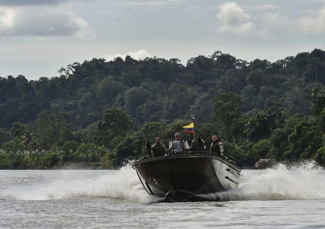 Lancha da Marinha da Colômbia (imagem referencial)