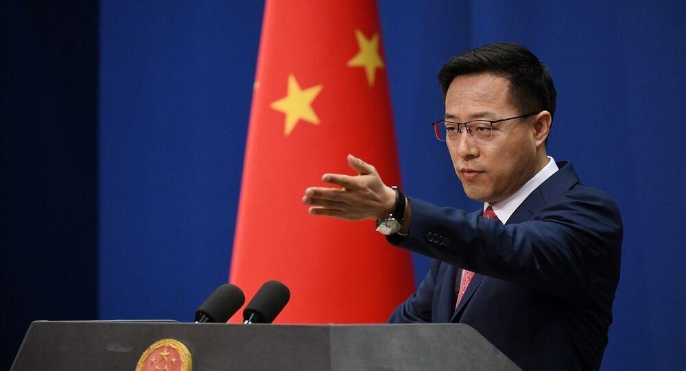 Porta-voz do Ministério das Relações Exteriores da China, Zhao Lijian (foto de arquivo)