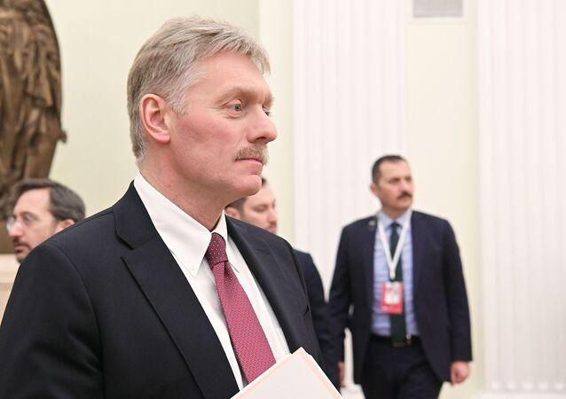 Porta-voz do Kremlin, Dmitry Peskov (foto de arquivo)