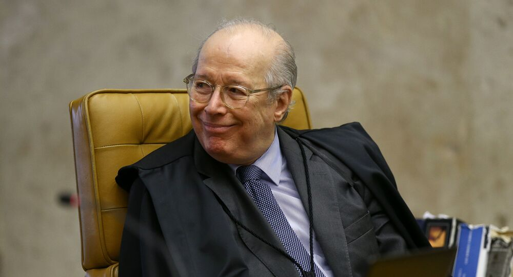 O ministro Celso de Mello, do Supremo Tribunal Federal (STF), durante sessão da Corte.
