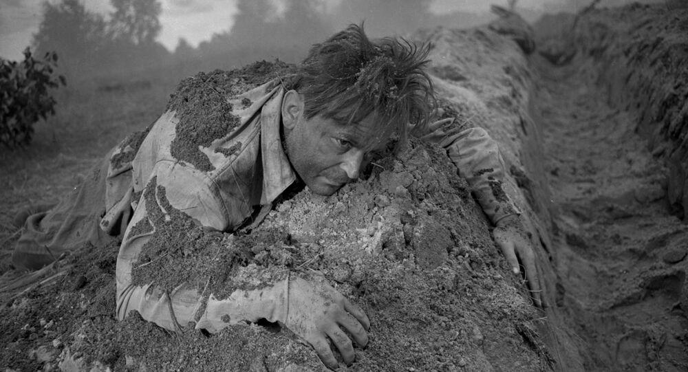Ator e diretor Sergei Bondarchuk, em cena do filme O Destino de um Homem, de 1959