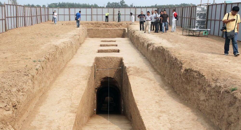 Uma tumba chinesa do século VII (imagem referencial)