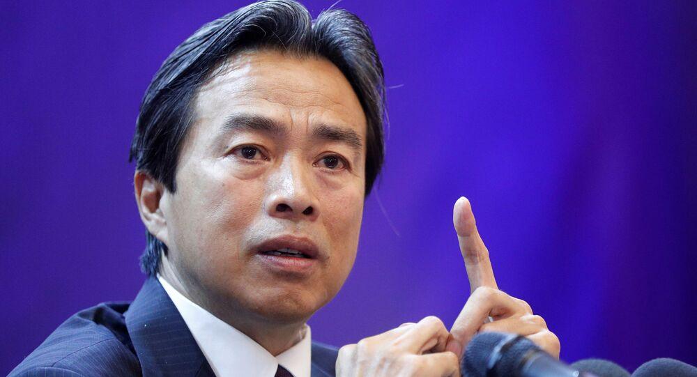 Du Wei, embaixador da China em Israel (foto de arquivo)