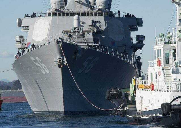 Navio de guerra americano USS John S. McCain (foto de arquivo)
