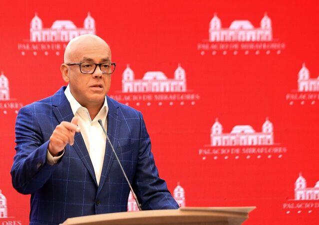 Ministro das Comunicações da Venezuela, Jorge Rodríguez (foto de arquivo)