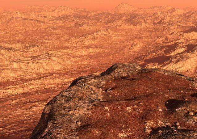 Ilustração artística de Marte