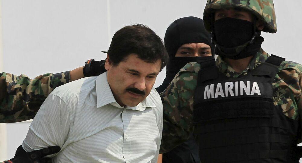 """Joaquín Guzmán, """"El Chapo"""", quando foi preso em fevereiro de 2014"""