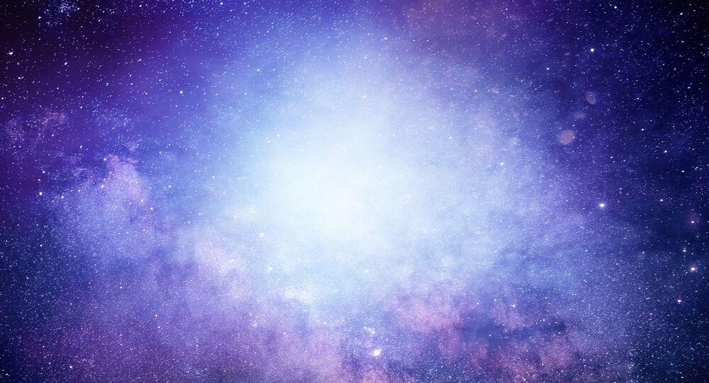 Ilustração artística de galáxia