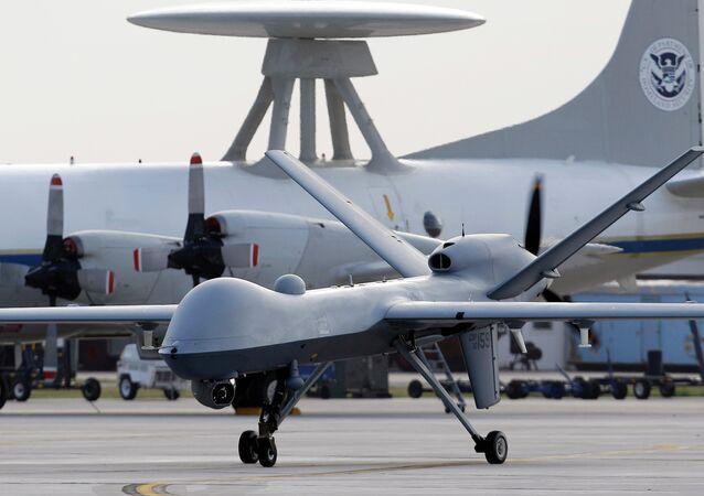 General Atomics MQ-9 Reaper na Estação Aeronaval de Corpus Christi, no Texas, EUA