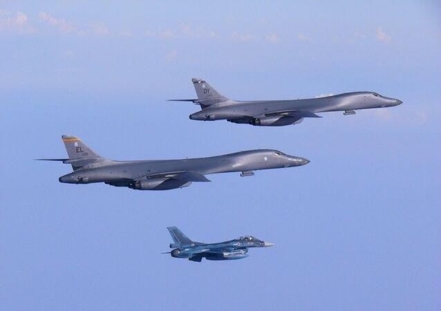 Bombardeiros B-1B Lancer da Força Aérea dos EUA