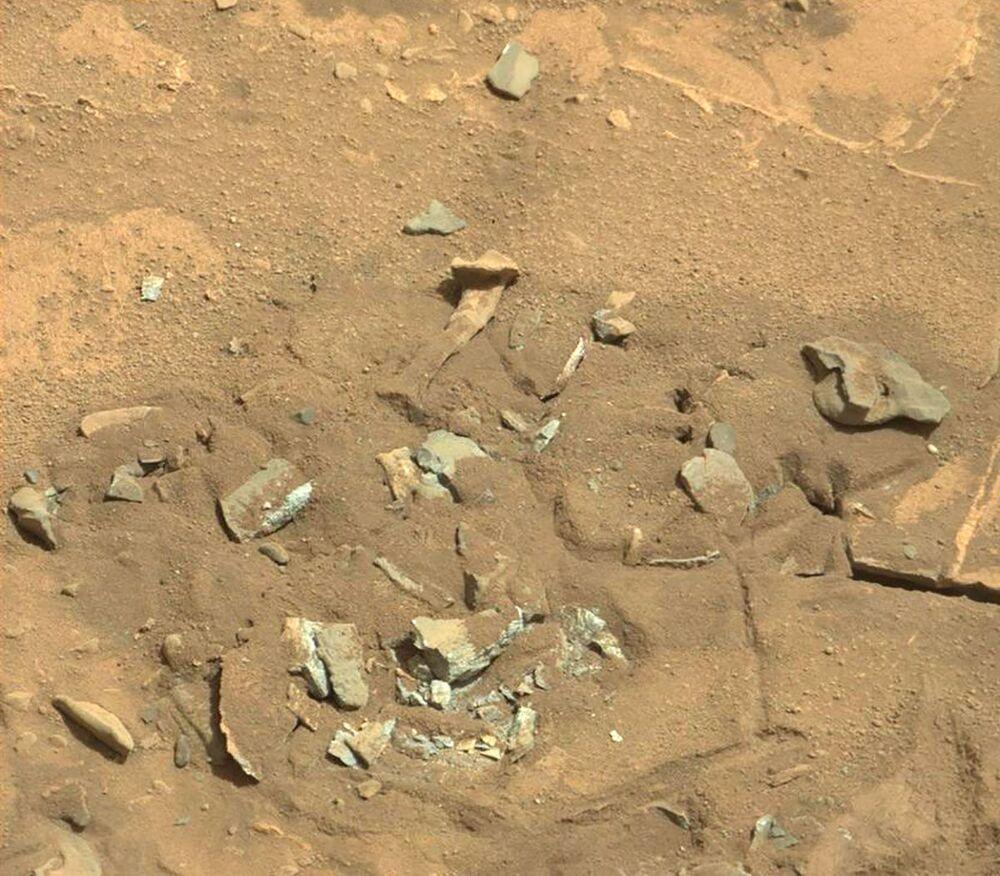 Sedimentos semelhantes a ossos de quadril humano na superfície de Marte