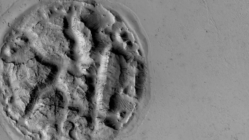 Relevo intrigante semelhante a um waffle na superfície de Marte