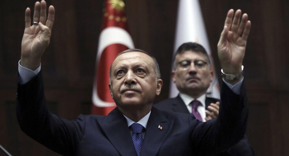 Presidente turco Recep Tayyip Erdogan (imagem de arquivo)