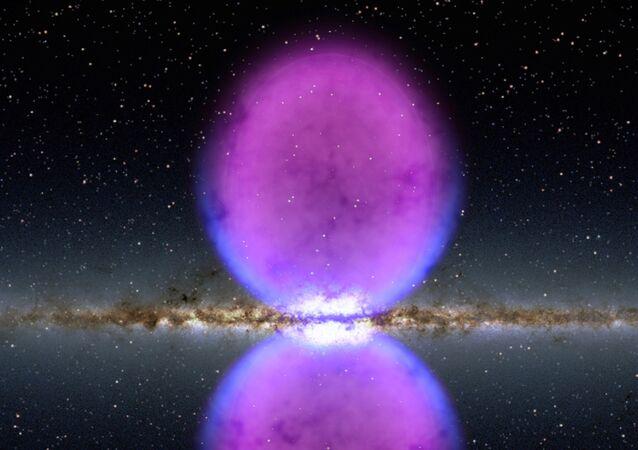 As gigantescas Bolhas Fermi só são visíveis na luz de raios gama